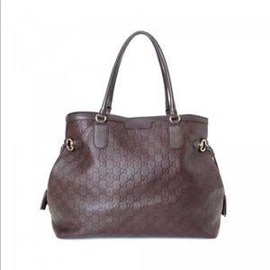 Gucci Guccissima  Leather Tote Handbag